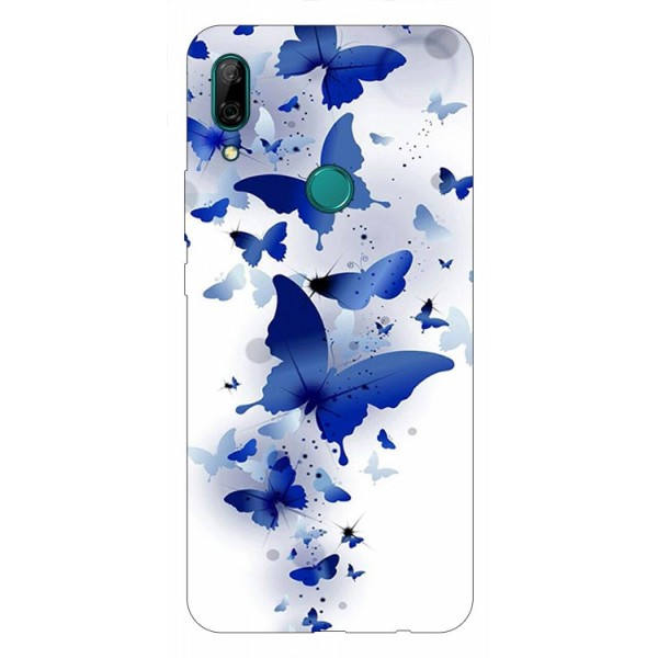 Husa Silicon Soft Upzz Print Huawei P Smart Z Model Blue Butterflies imagine itelmobile.ro 2021