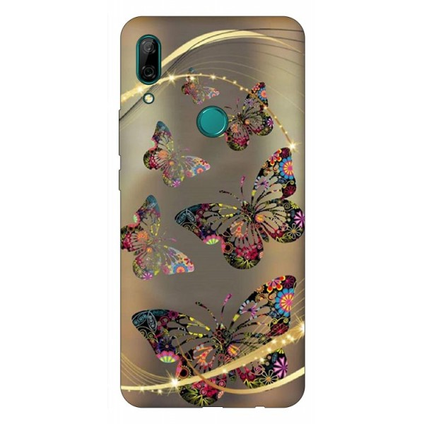 Husa Silicon Soft Upzz Print Huawei P Smart Z Model Golden Butterfly imagine itelmobile.ro 2021