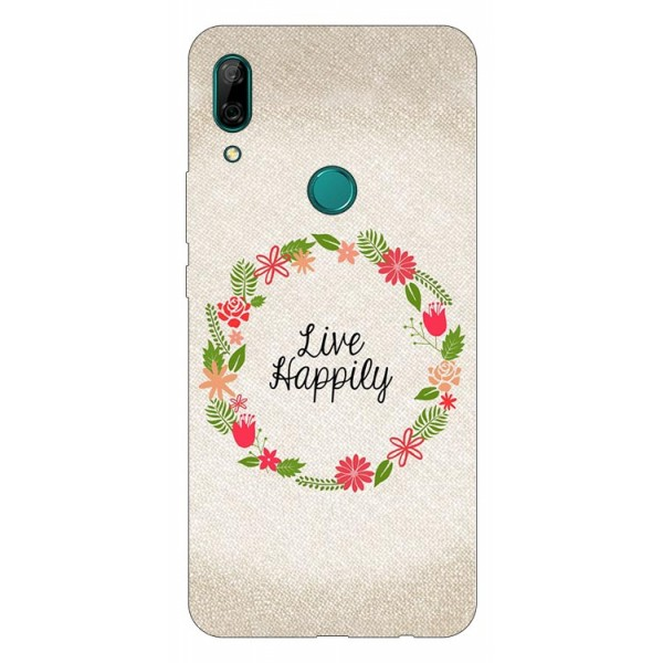Husa Silicon Soft Upzz Print Huawei P Smart Z Model Happily imagine itelmobile.ro 2021