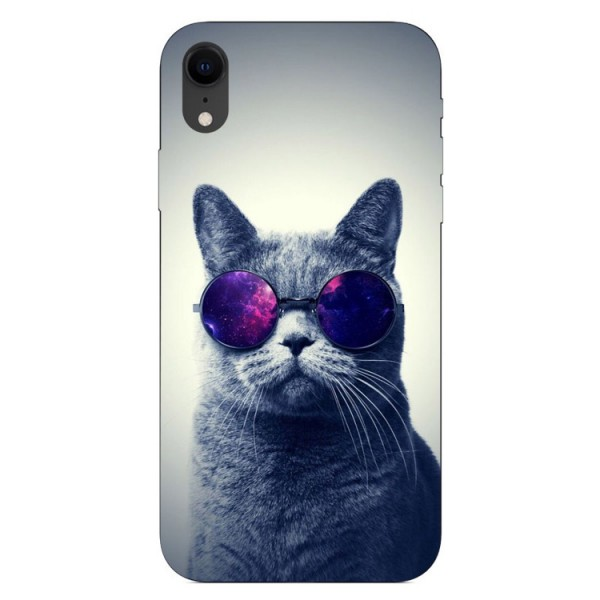 Husa Silicon Soft Upzz Print iPhone Xr Model Cool Cat imagine itelmobile.ro 2021