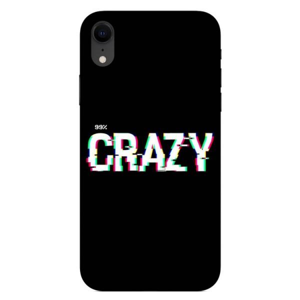 Husa Silicon Soft Upzz Print iPhone Xr Model Crazy imagine itelmobile.ro 2021