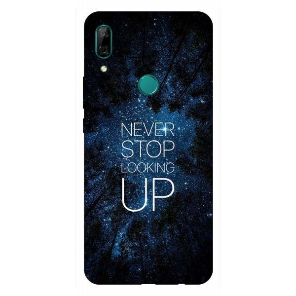 Husa Silicon Soft Upzz Print Huawei P Smart Z Model Never Stop imagine itelmobile.ro 2021