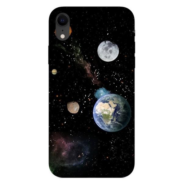 Husa Silicon Soft Upzz Print iPhone Xr Model Earth imagine itelmobile.ro 2021