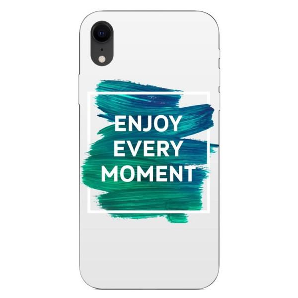 Husa Silicon Soft Upzz Print iPhone Xr Model Enjoy imagine itelmobile.ro 2021