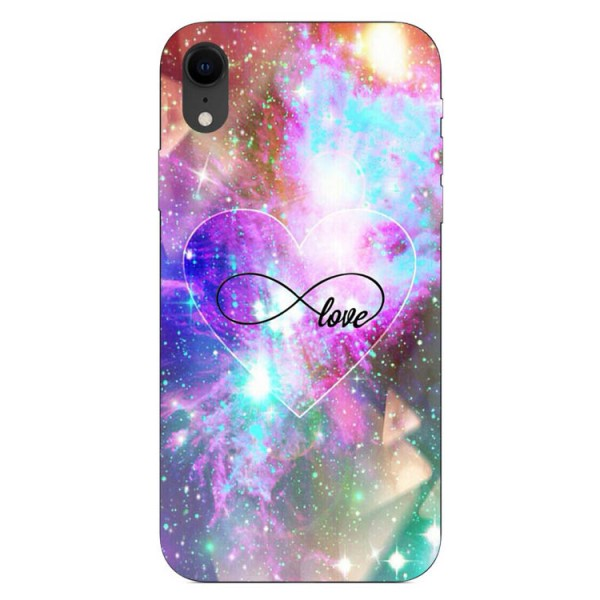 Husa Silicon Soft Upzz Print iPhone Xr Model Neon Love imagine itelmobile.ro 2021