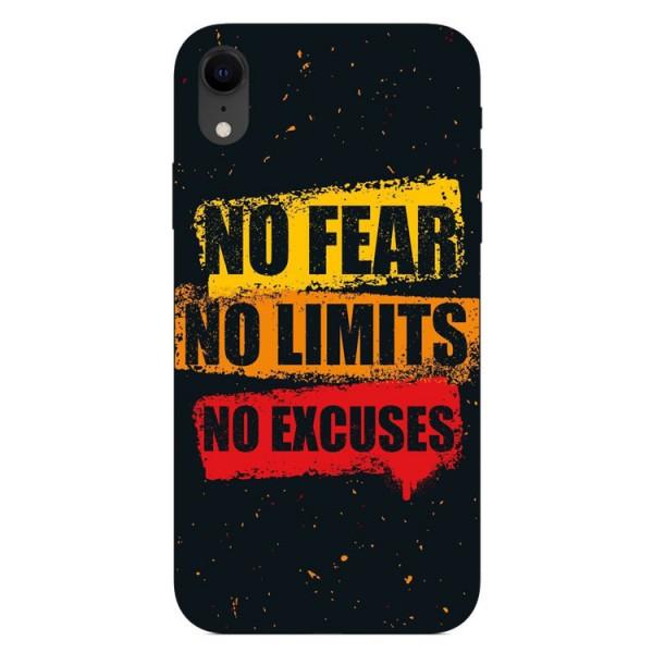 Husa Silicon Soft Upzz Print iPhone Xr Model No Fear imagine itelmobile.ro 2021