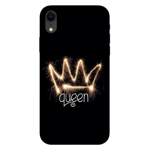 Husa Silicon Soft Upzz Print iPhone Xr Model Queen imagine itelmobile.ro 2021