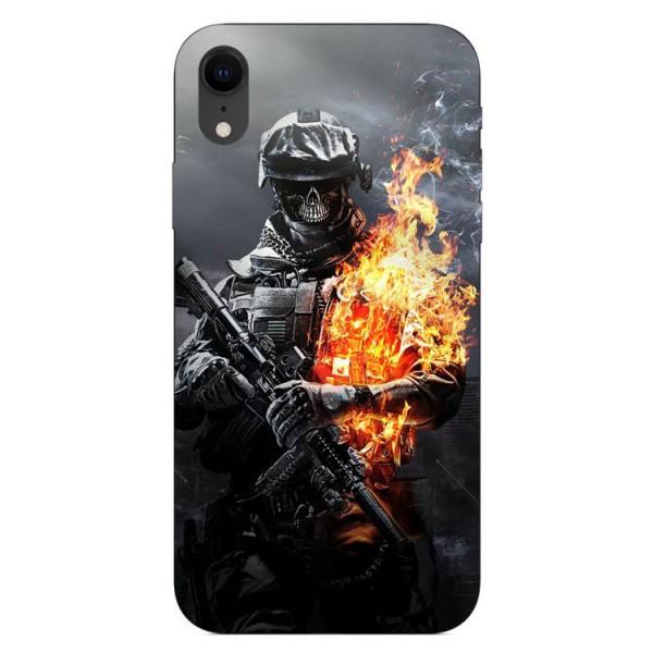 Husa Silicon Soft Upzz Print iPhone Xr Model Soldier imagine itelmobile.ro 2021