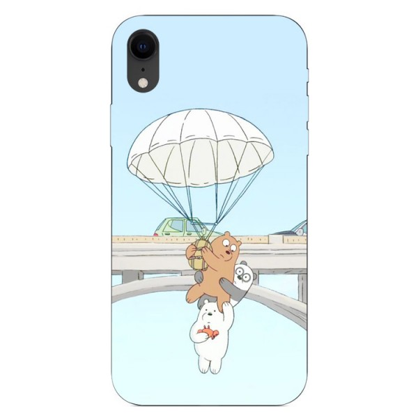 Husa Silicon Soft Upzz Print iPhone Xr Model Three Bears imagine itelmobile.ro 2021