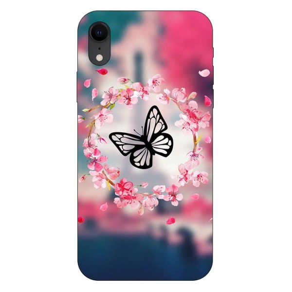 Husa Silicon Soft Upzz Print iPhone Xr Model Butterfly imagine itelmobile.ro 2021