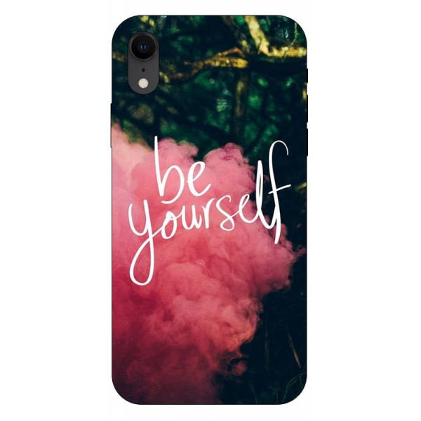 Husa Silicon Soft Upzz Print iPhone Xr Model Be Yourself imagine itelmobile.ro 2021