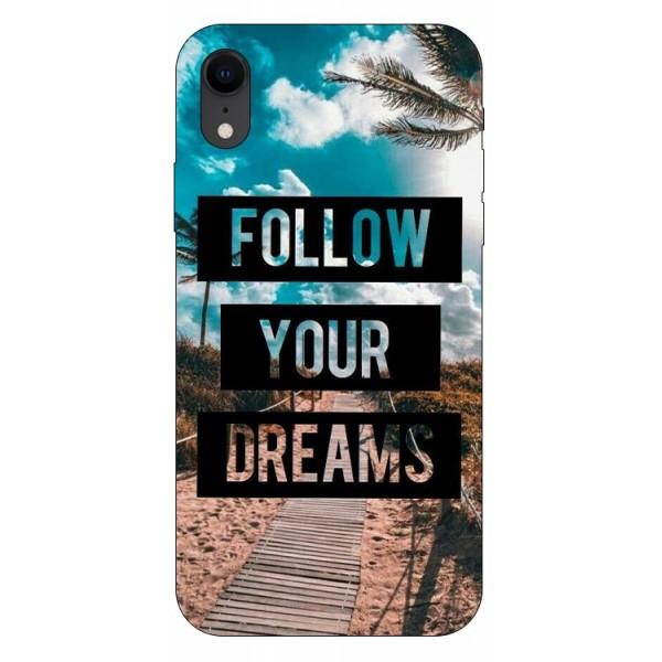 Husa Silicon Soft Upzz Print iPhone Xr Model Dreams imagine itelmobile.ro 2021