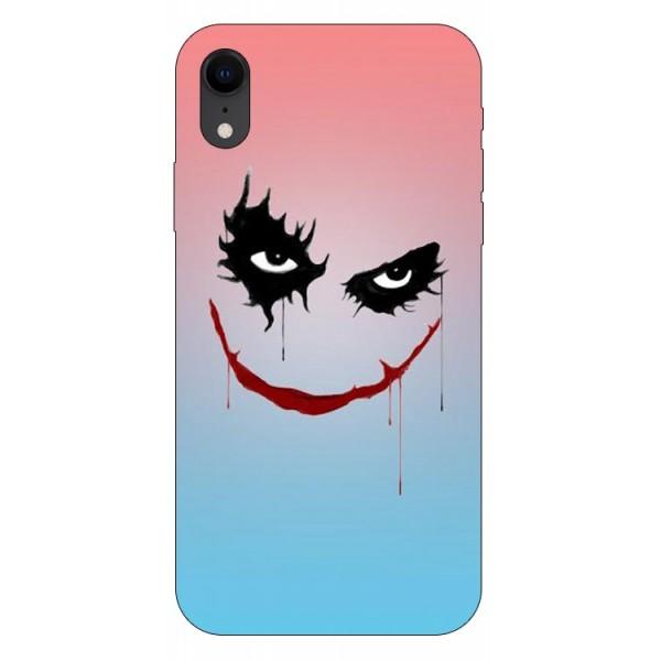 Husa Silicon Soft Upzz Print iPhone Xr Model Joker imagine itelmobile.ro 2021