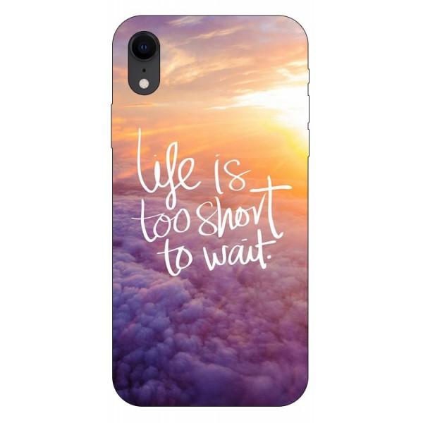 Husa Silicon Soft Upzz Print iPhone Xr Model Life imagine itelmobile.ro 2021