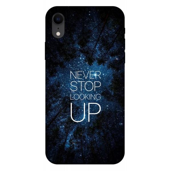 Husa Silicon Soft Upzz Print iPhone Xr Model Never Stop imagine itelmobile.ro 2021