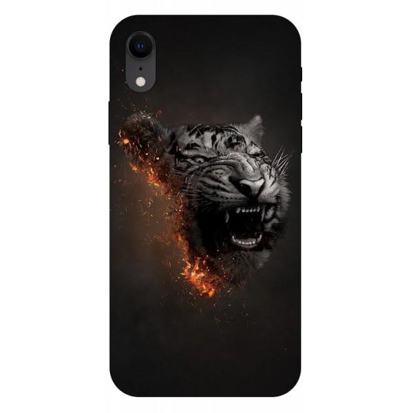 Husa Silicon Soft Upzz Print iPhone Xr Model Tiger imagine itelmobile.ro 2021