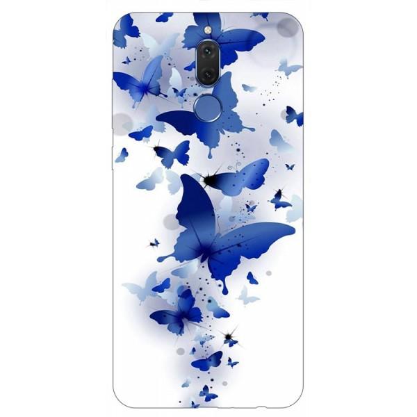 Husa Silicon Soft Upzz Print Huawei Mate 10 Lite Model Blue Butterflies imagine itelmobile.ro 2021