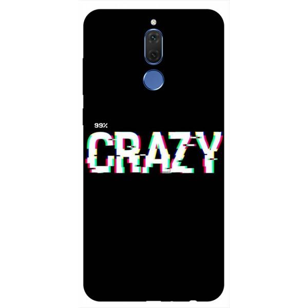 Husa Silicon Soft Upzz Print Huawei Mate 10 Lite Model Crazy imagine itelmobile.ro 2021