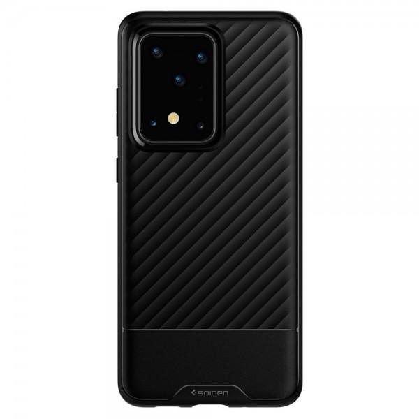 Husa Premium Originala Spigen Core Armor Samsung Galaxy S20 Ultra, Negru Silicon imagine itelmobile.ro 2021