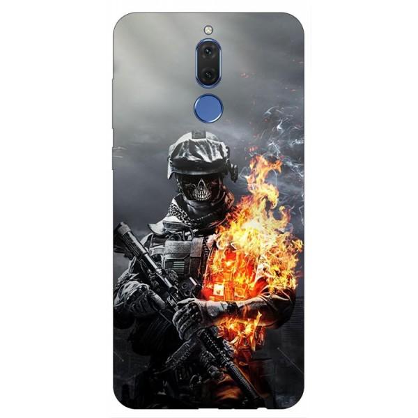 Husa Silicon Soft Upzz Print Huawei Mate 10 Lite Model Soldier imagine itelmobile.ro 2021