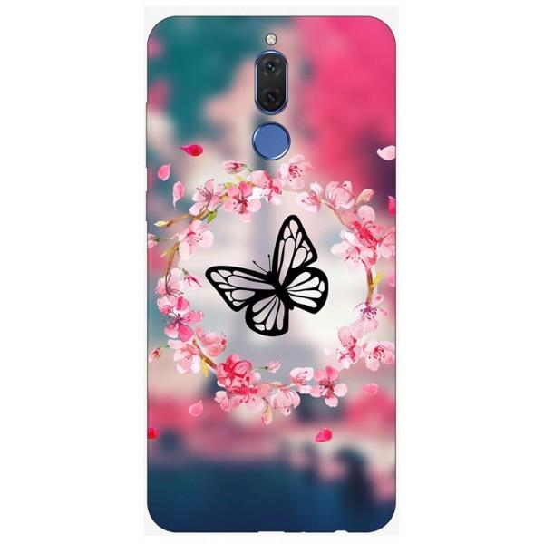 Husa Silicon Soft Upzz Print Huawei Mate 10 Lite Model Butterfly imagine itelmobile.ro 2021