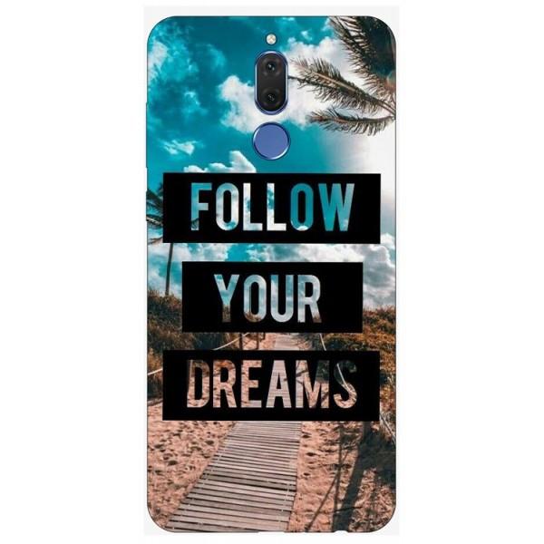 Husa Silicon Soft Upzz Print Huawei Mate 10 Lite Model Dreams imagine itelmobile.ro 2021