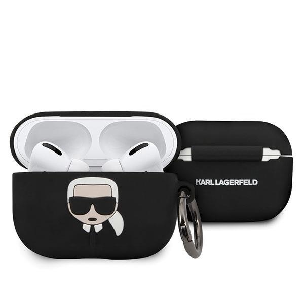 Husa Protectie Originala Karl Lagerfeld Pentru Airpods Pro Negru imagine itelmobile.ro 2021