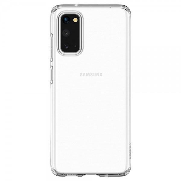 Husa Spigen Liquid Crystal Samsung Galaxy S20, Transparent ,silicon imagine itelmobile.ro 2021