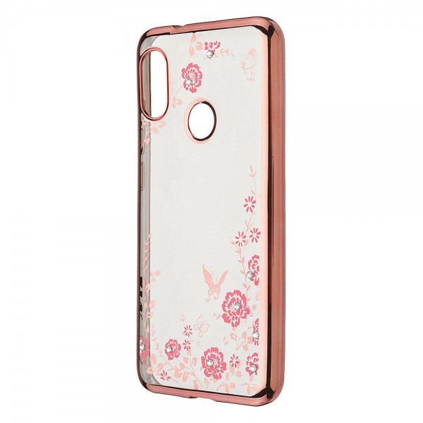 Husa Spate Forcell Bling Diamond Samsung Galaxy M30 Rose Gold imagine itelmobile.ro 2021