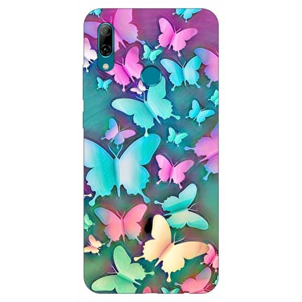 Husa Silicon Soft Upzz Print Huawei P Smart 2019 Model Colorfull Butterflies imagine itelmobile.ro 2021