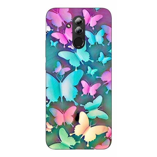 Husa Silicon Soft Upzz Print Huawei Mate 20 Lite Model Colorfull Butterflies imagine itelmobile.ro 2021