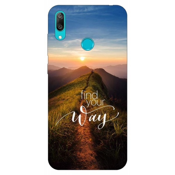 Husa Silicon Soft Upzz Print Huawei Y7 2019 Model Way imagine itelmobile.ro 2021