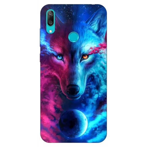 Husa Silicon Soft Upzz Print Huawei Y7 2019 Model Wolf imagine itelmobile.ro 2021