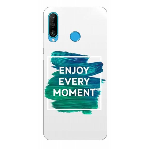 Husa Silicon Soft Upzz Print Huawei P30 Lite Model Enjoy imagine itelmobile.ro 2021