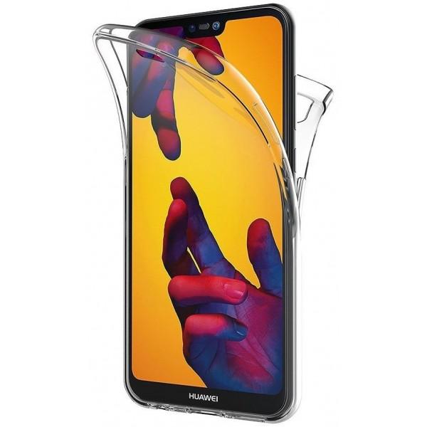 Husa 360 Grade Silicon Huawei P40 Lite Transparenta imagine itelmobile.ro 2021