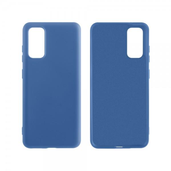Husa Premium Upzz Liiquid Silicon Pentru Samsung Galaxy S20 Ultra Cu Invelis Alcantara La Interior , Albastru imagine itelmobile.ro 2021