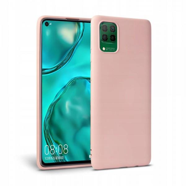 Husa Premium Upzz Liquid Silicon Pentru Huawei P40 Lite Cu Invelis Alcantara La Interior , Roz imagine itelmobile.ro 2021