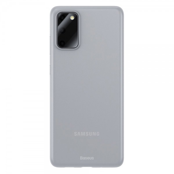 Husa Spate Ultra Slim Baseus Wing Samsung Galaxy S20 , 0,45mm Grosime, Transparenta Matte imagine itelmobile.ro 2021