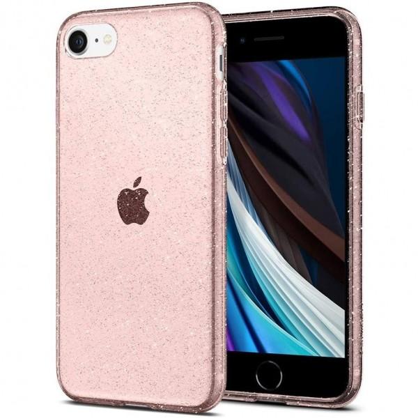 Husa Premium Spigen Liquid Crystal Glitter iPhone Se 2 (2020) ,silicon ,rose imagine itelmobile.ro 2021