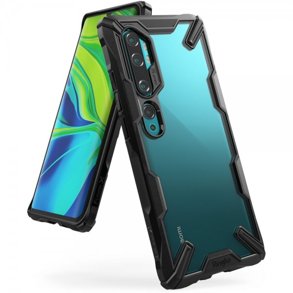 Ringke Fushion X Pentru Xiaomi Mi Note 10 / Mi Note 10 Pro, Negru imagine itelmobile.ro 2021