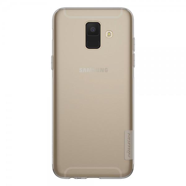 Husa Slim Nillkin Nature Samsung A6 2018 Transparenta Fumurie imagine itelmobile.ro 2021