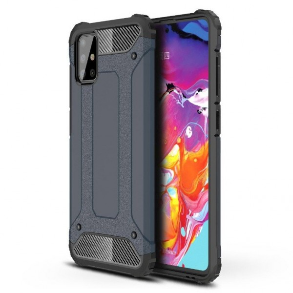 Husa Armor Upzz Samsung Galaxy A71 Anti-shock Dark Blue imagine itelmobile.ro 2021