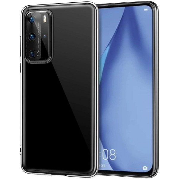 Husa Slim Tech Protect Huawei P40 Pro Transparenta Slim Silicon imagine itelmobile.ro 2021