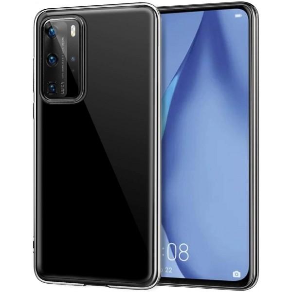 Husa Slim Tech Protect Huawei P40 Transparenta Slim Silicon imagine itelmobile.ro 2021