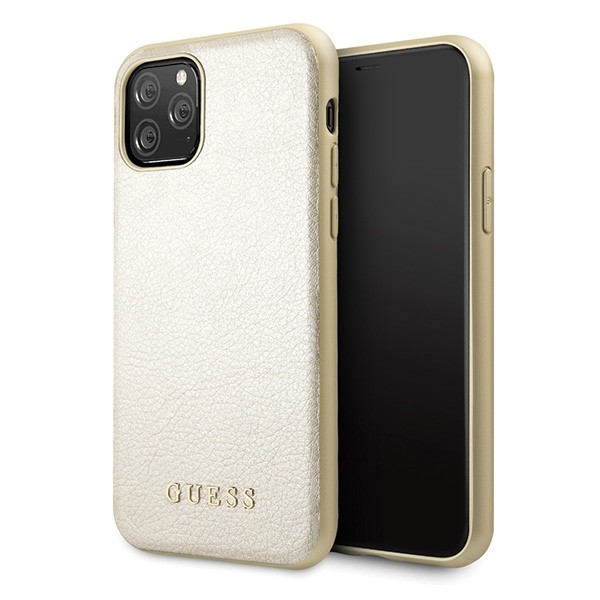 Husa Premium Originala Guess Iridescent iPhone 11 Pro Gold -guhcn58iglgo imagine itelmobile.ro 2021