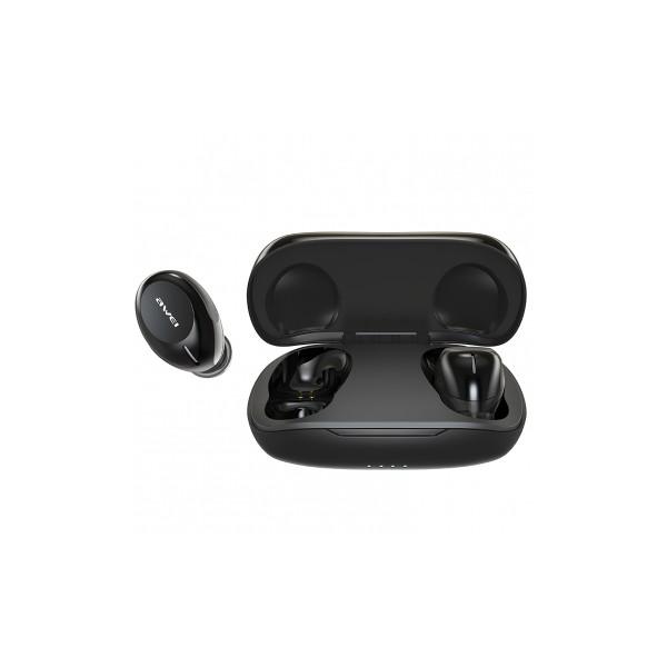 Casti Bluetooth Premium Awei T20 Tws,bluetooth 5.0, Carcasa Cu Incarcare,negre imagine itelmobile.ro 2021