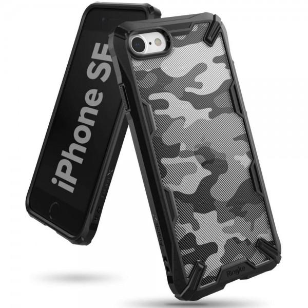 Husa Premium Spate Ringke Fushion X iPhone Se 2 ( 2020 ) ,camo Black imagine itelmobile.ro 2021