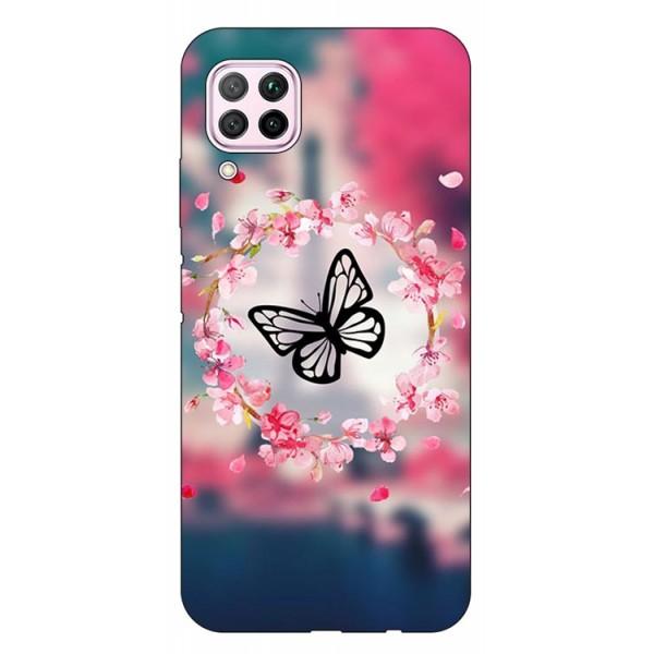 Husa Silicon Spate Upzz Print Huawei P40 Lite Model Butterflyes imagine itelmobile.ro 2021