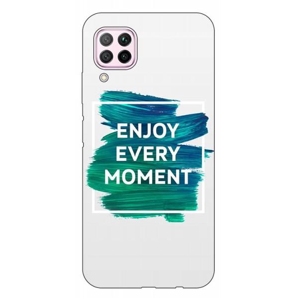 Husa Silicon Soft Upzz Print Huawei P40 Lite Model Enjoy imagine itelmobile.ro 2021