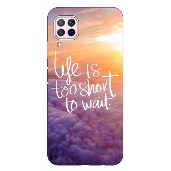 Husa Silicon Soft Upzz Print Huawei P40 Lite Model Life imagine itelmobile.ro 2021